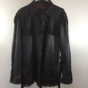 Other - Vintage Fringe Deerskin Jacket